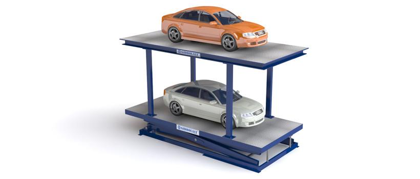 Подъемник пантографный для легковых автомобилей для парковки