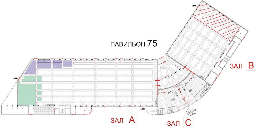 План выставочного павильона №75